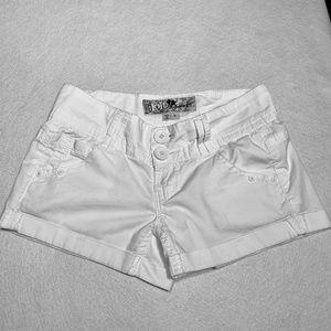 🛍Jolt White Cuffed Shorts Size 0